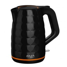 Adler Kettle AD 1277 Standard, Plastic, Black, 2200 W, 360° rotational base, 1.7 L
