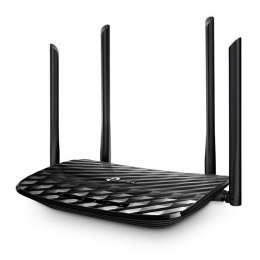 TP-LINK Router Archer C6 802.11ac, 300+867 Mbit/s, 10/100/1000 Mbit/s, Ethernet LAN (RJ-45) ports 4, MU-MiMO Yes, Antenna type 4