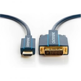 Clicktronic 70340 HDMI™ / DVI adaptor cable, 1 m Clicktronic