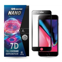 Crong 7D Nano Flexible Glass - Szkło hybrydowe 9H na cały ekran iPhone 8 Plus / 7 Plus (Black)