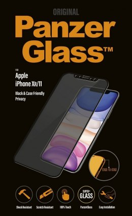 PanzerGlass P2665 Apple, iPhone Xr/11, Tempered glass, Black, Case friendly with Privacy filter
