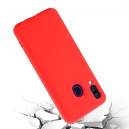 Crong Color Cover - Etui Samsung Galaxy A40 (czerwony)