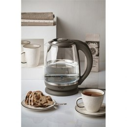 Adler Kettle AD 1286 Standard, 2200 W, 2 L, Plastic/ glass, Grey/ transparent, 360° rotational base