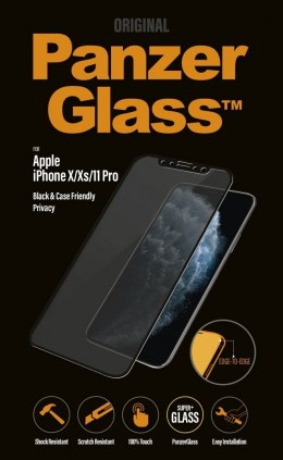 PanzerGlass P2664 Apple, iPhone X/Xs/11 Pro, Tempered glass, Black, Case friendly with Privacy filter