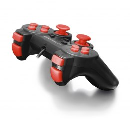 EGG102R Gamepad PC USB Warrior czarno-czerwony Esperanza