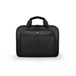 "PORT DESIGNS HANOI II CLAMSHELL 105064 Fits up to size 15.6 "", Black, Shoulder strap, Messenger - Briefcase"