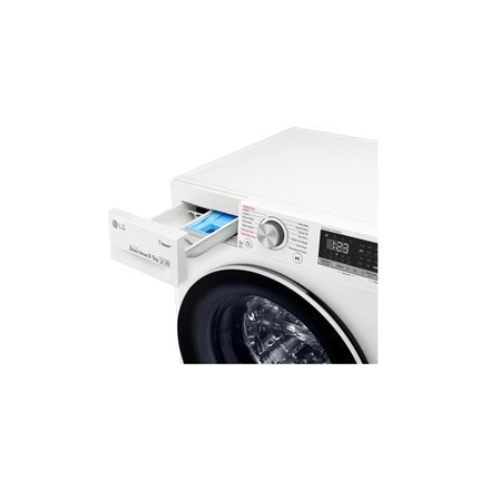 LG Washing machine with dryer F4DN409S0 Front loading, Washing capacity 9 kg, Drying capacity 5 kg, 1400 RPM, Direct drive, A, D