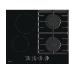 Gorenje Hob GCE691BSC Induction and gas, Number of burners/cooking zones 4, Mechanical, Black