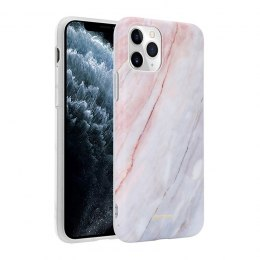 Crong Marble Case - Etui iPhone 11 Pro (różowy)