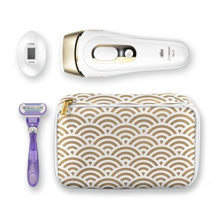 Braun Epilator PL 5137 IPL Hair Removal System, Bulb lifetime (flashes) 400000, Number of intensity levels 10, Number of speeds