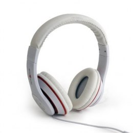 "Gembird MHS-LAX-W Stereo headset ""Los Angeles"" 3.5mm (1/8 inch), Headband, Microphone, 3.5 mm, White, No, No, White"