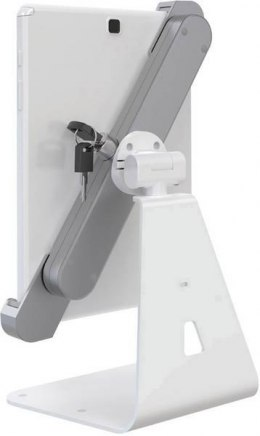 Barkan Lockable Anti-Theft Tablet Desk Stand T51HL White/Silver