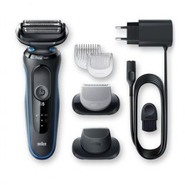 Braun Shaver 50-B1620s Cordless, Charging time 1 h, Wet use, Lithium Ion, Number of shaver heads/blades 3, Black/Blue