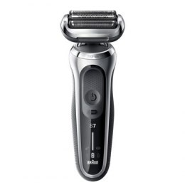 Braun Shaver 70-S1000s Cordless, Charging time 1 h, Lithium Ion, Number of shaver heads/blades 3, Black/Silver, Wet & Dry