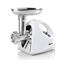 Tristar VM-4210 Meat Grinder White, 3 Stainless steel grinding plates, Aluminum grinder head, Aluminum hopper tray, Sausage stuf
