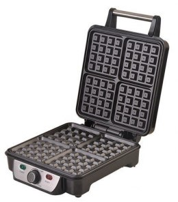 Waffle maker Camry CR 3025 Black/Stainless steel, 1150 W, Belgium, Number of waffles 4