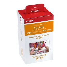 Canon Color Ink/Paper Set for SELPHY CP1300 Printer RP-108