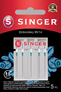 Singer Embroidery Needle 90/14 5PK