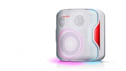 Sharp PS-919 Party Speaker 130 W, White, With Built-in Battery, TWS, USB, LED, IPX5, 14 h, Bluetooth