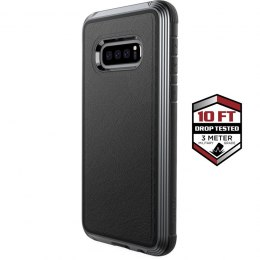 X-Doria Defense Lux - Etui aluminiowe Samsung Galaxy S10e (Drop test 3m) (Black Leather)
