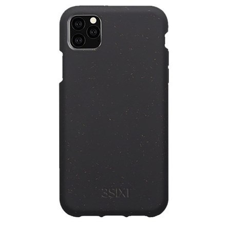 Image of 3SIXT Red BioFleck Case (3S-1621) Back protection, Apple, iPhone 11 Pro, Plant materials, Anthracite
