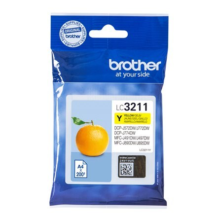 Image of Brother LC3211Y Inkjet cartridge, Yellow