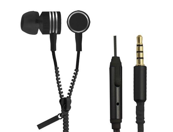 EH161K Słuchawki douszne Zipper czarne Esperanza