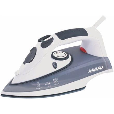 Iron Mesko MS 5016 Grey/White, 2000 W, With cord, Anti-scale system, Vertical steam function