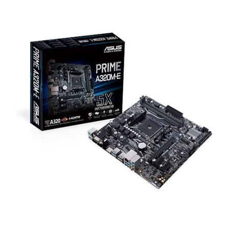 Image of Asus PRIME A320M-E Processor family AMD, Processor socket AM4, DDR4-SDRAM 2133,2400,2666,2933,3200 MHz, Memory slots 2, Supporte